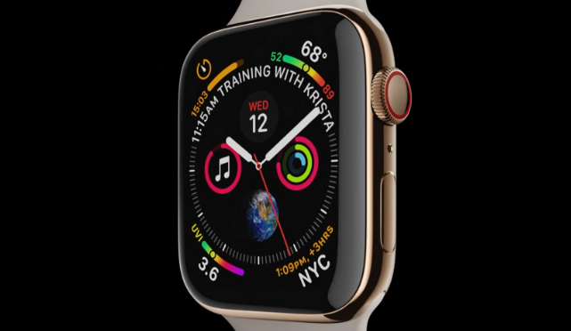 苹果手表Apple Watch Series 4发布