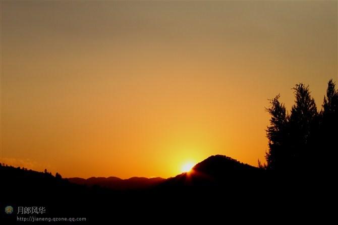 十年前的拍的漾濞夕阳